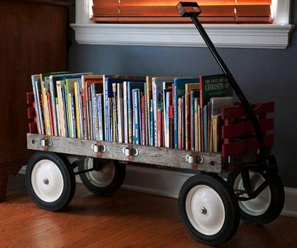 DIY Wagon Bookshelf., Get the tutorial