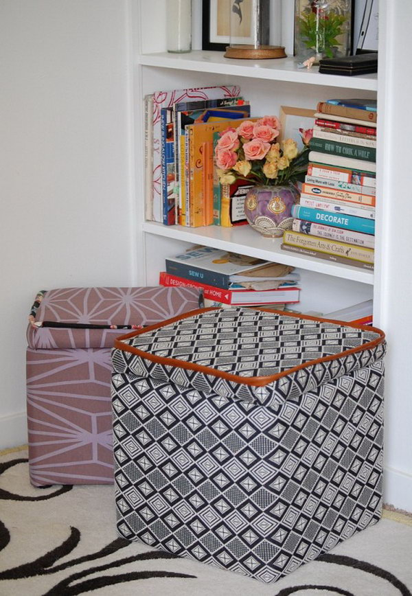 DIY Custom Storage Ottoman. Get the directions