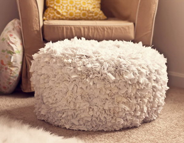 DIY Fabric Ottoman. Get more details