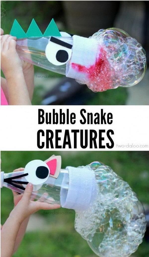 DIY Bubble Snakes Maker.