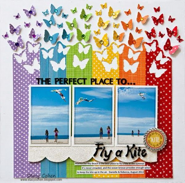 Flying Kites Scrapbooking Ideas.