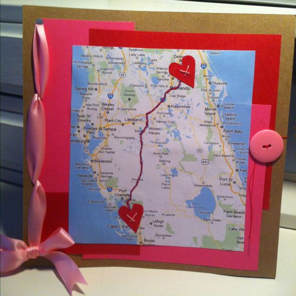 A cute and romantic scrapbooking idea for your long distance boyfriend.