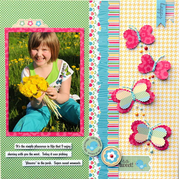 Heart Butterflies. Making cute little butterflies with your heart puncher to decorate your scrapbook pages. Learn how to make it
