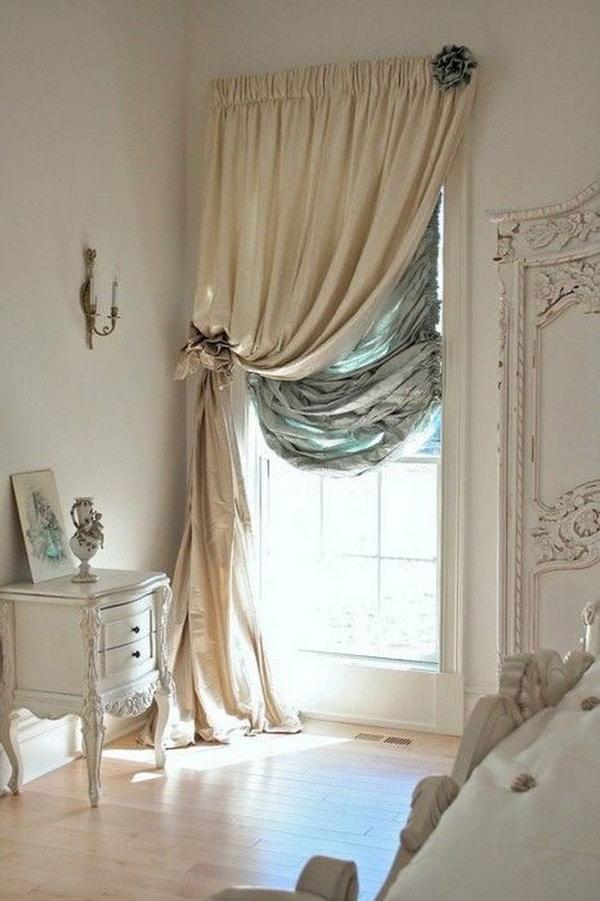 Shabby Chic Gorgeous Window Treatment.
