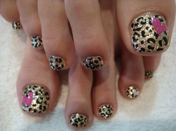 Leopard Print On Toes.