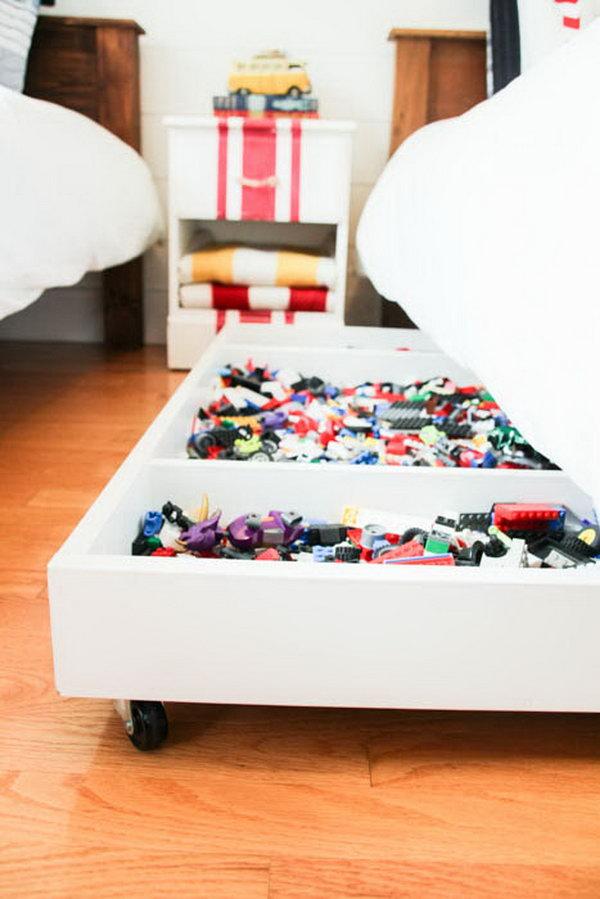 Diy Under Bed Rolling Lego Storage Cart