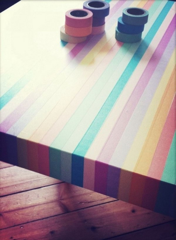 IKEA Table Hack with Washi Tape.