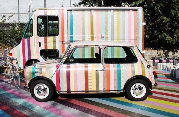 Refashion a Car with Washi Tape.