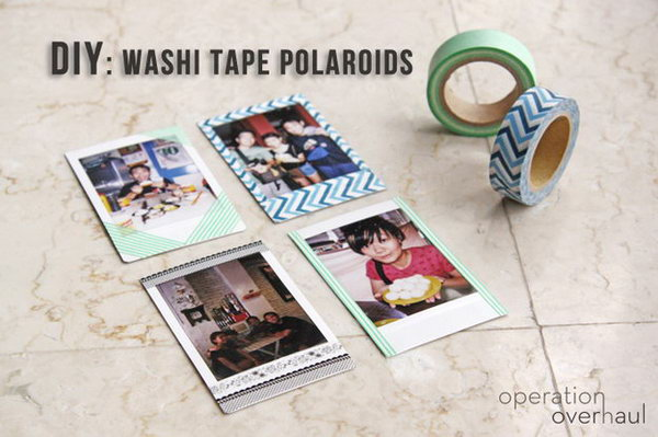 Washi Tape Used as the Photo Frame.