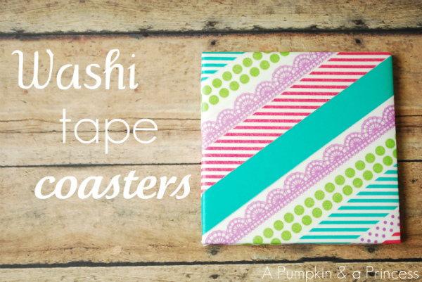 DIY Washi Tape Coasters.