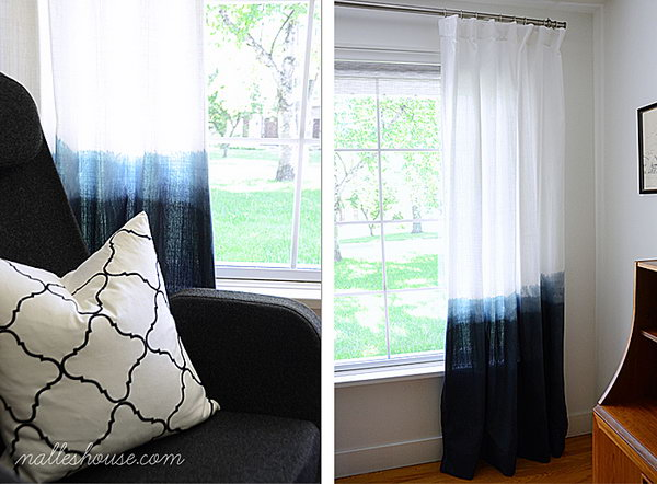 Dip Dyed Curtains. See the tutorial