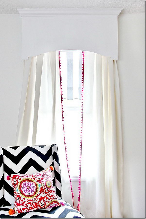 DIY Cornice Board. See the instructions