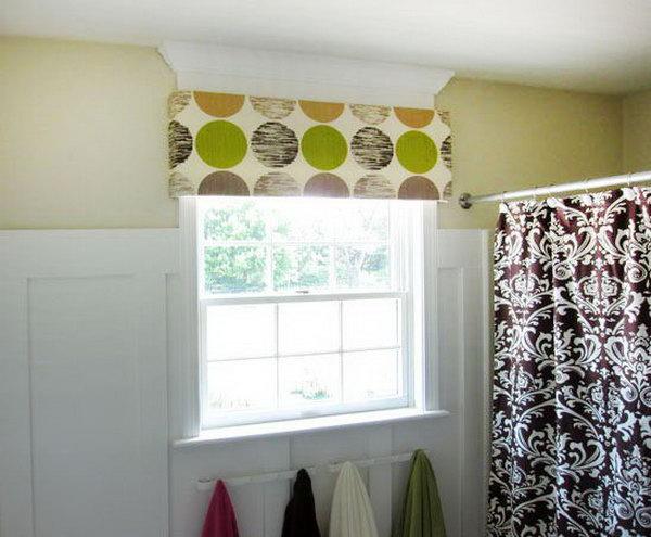 No Sew Foam Window Cornice. See how