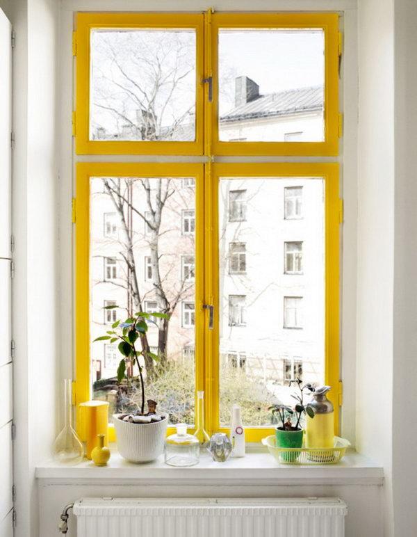 Bold Color Window Frame. See more details