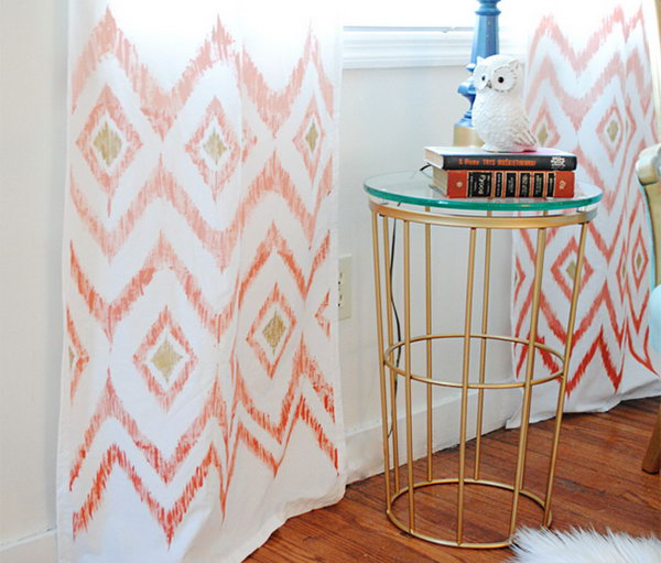 Ombre Ikat Curtain. Get the tutorial