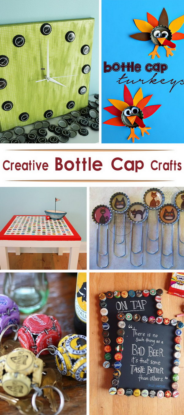 Lots of Creative Bottle Cap Crafts!