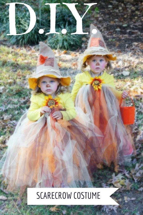 Scarecrow Tutu Halloween Costume.