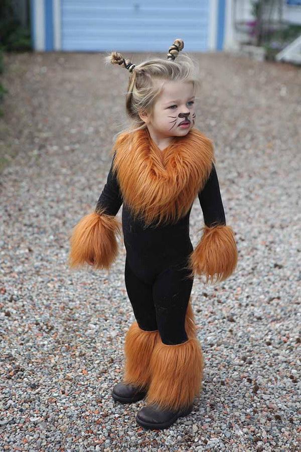 Faux Fur Lion Costum.