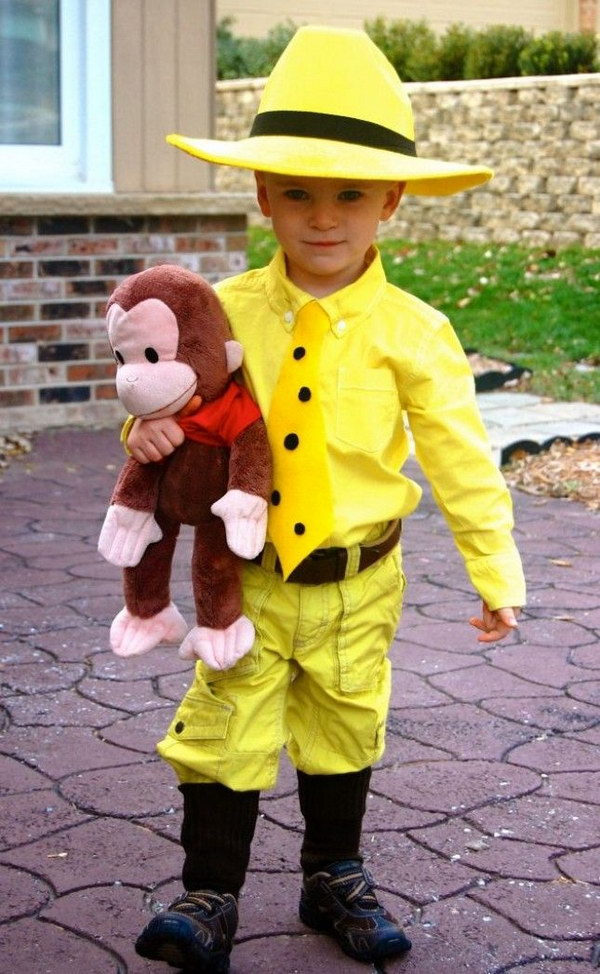 Curious George Kids Costum.