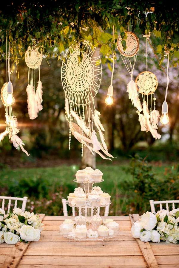 DIY Dream catchers for Wedding Decoration.