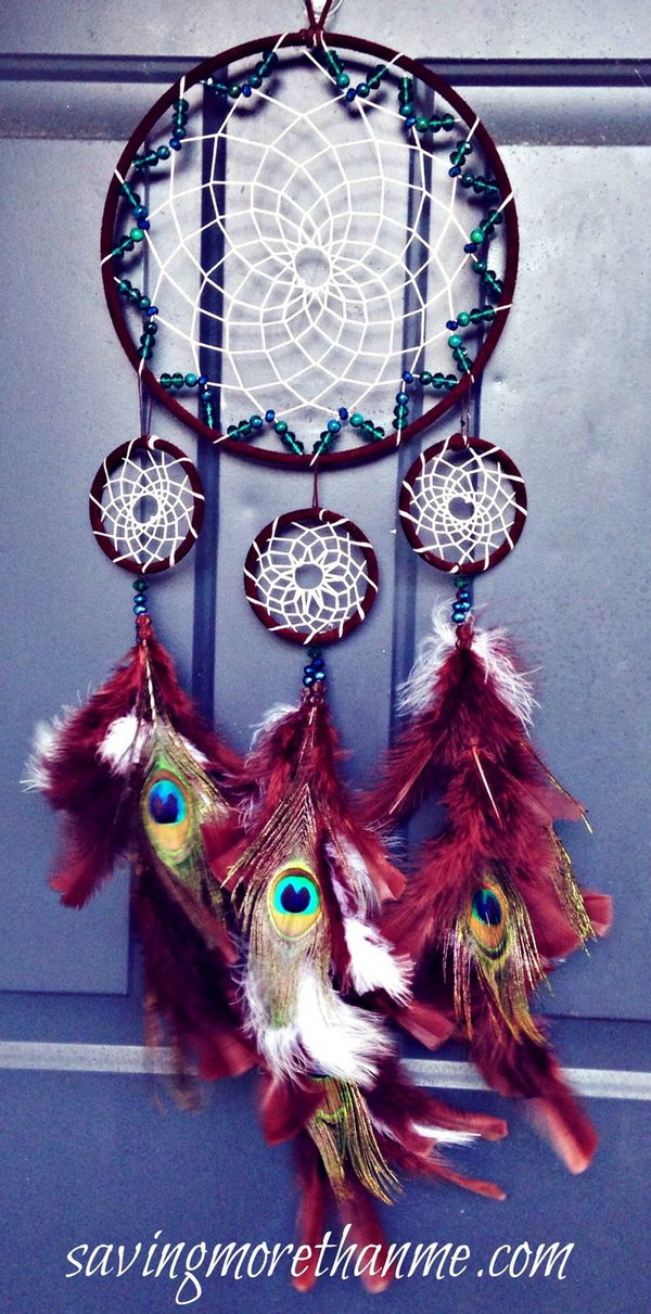 DIY Beautiful Peacock Dream catcher.