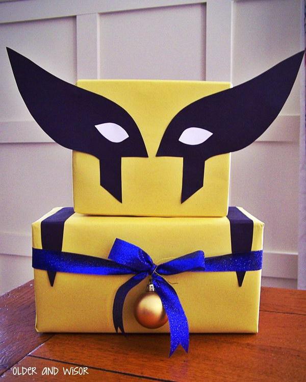 DIY X Men Gift Wrap.