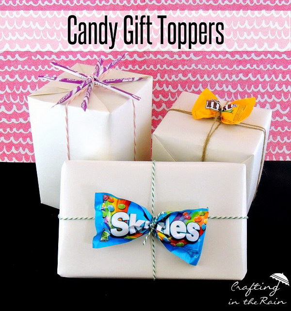 Creative Candy Gift Toppers.