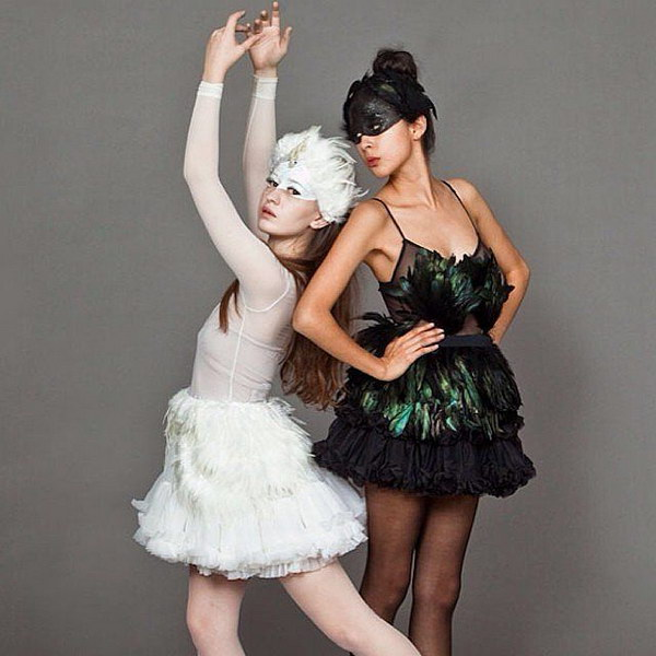 White Swan and Black Swan Best Friend Costumes