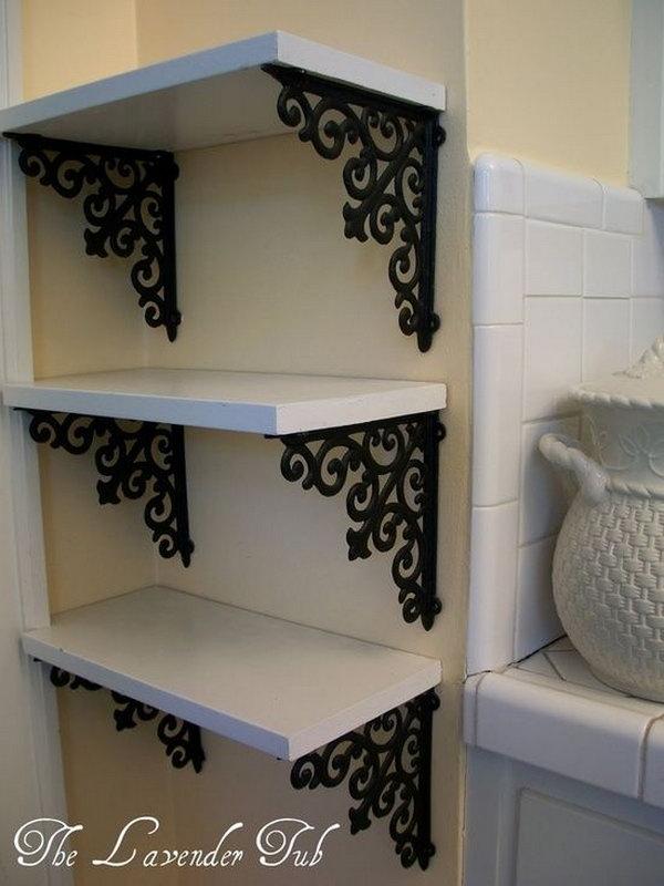 DIY Elegant Shelves for Display.