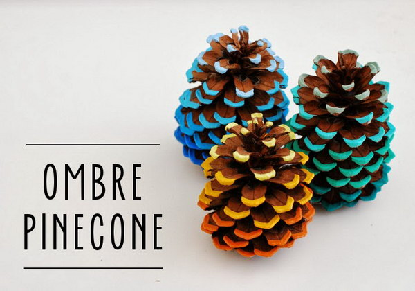 Ombre Pinecone Tutorial.