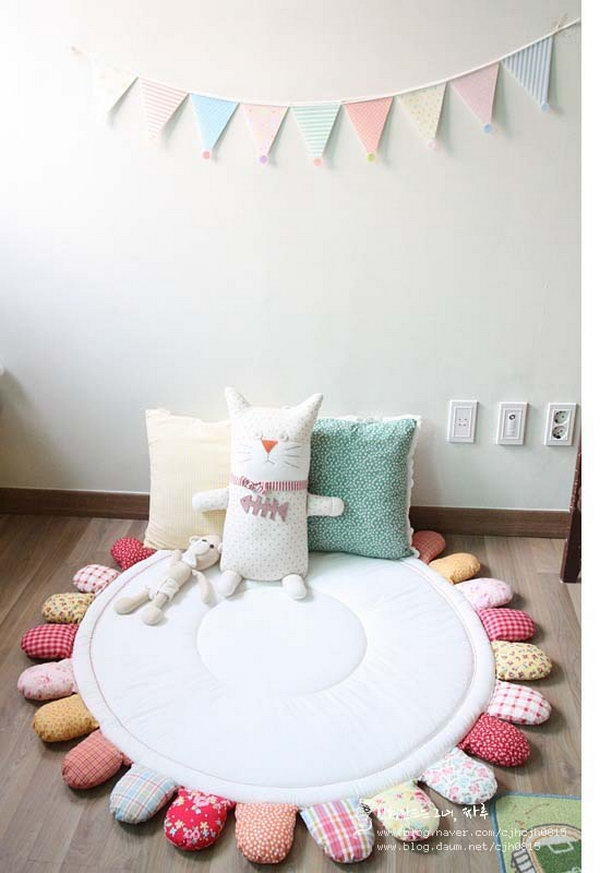 DIY Cute Patchwork Mat.