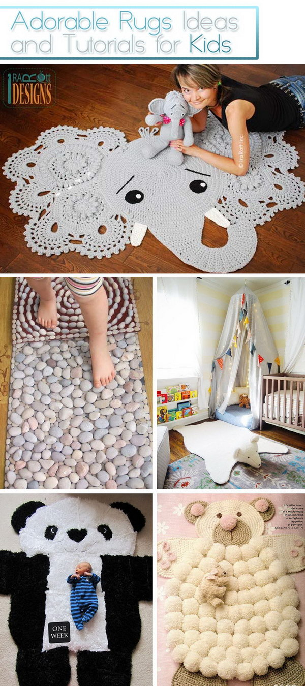 Adorable Rugs Ideas and Tutorials for Kids!