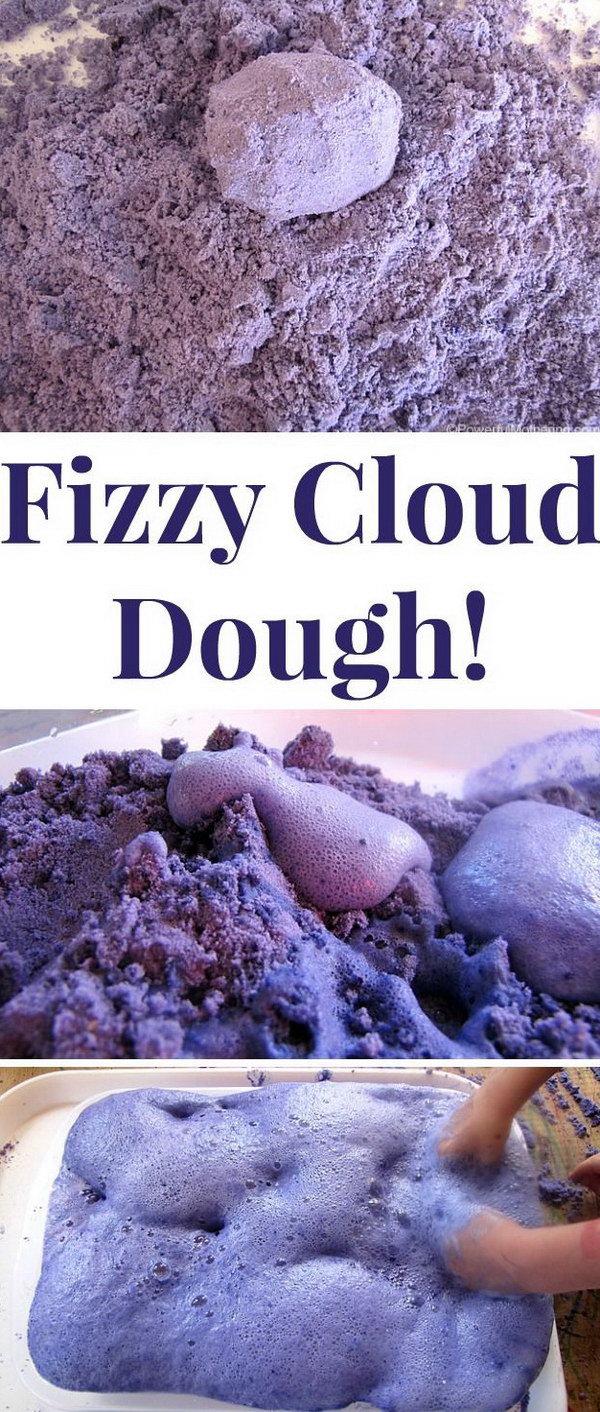 Fizzy Cloud Dough Experiment.