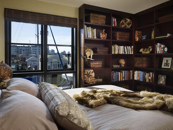 L Shape Bookshelves.