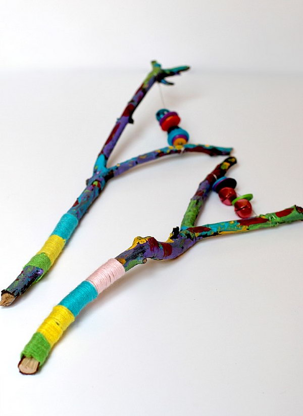 Fun Painted Stick Instruments.