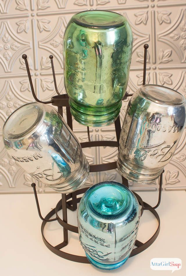 DIY Mirrored Mercury Glass Mason Jars