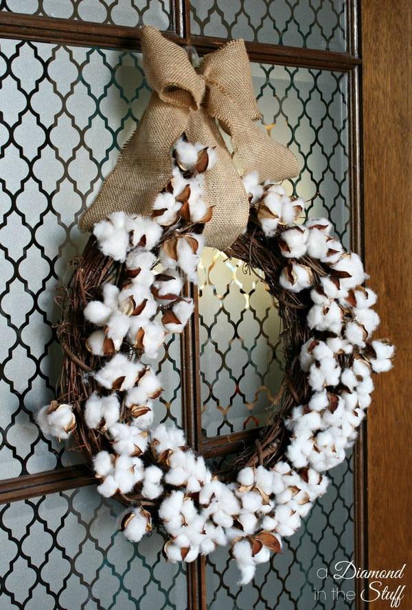 Cotton Boll Wreath Tutorial