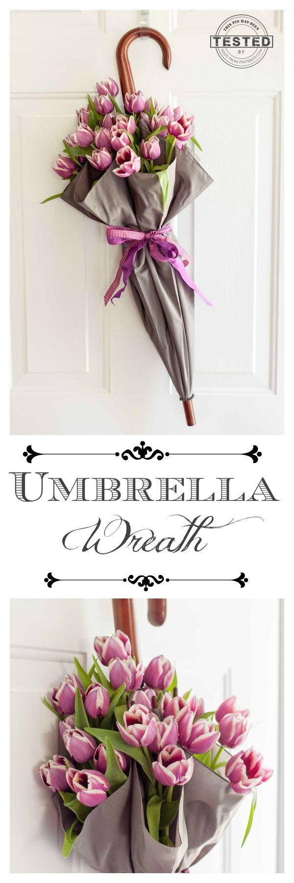 DIY Umbrella Wreath