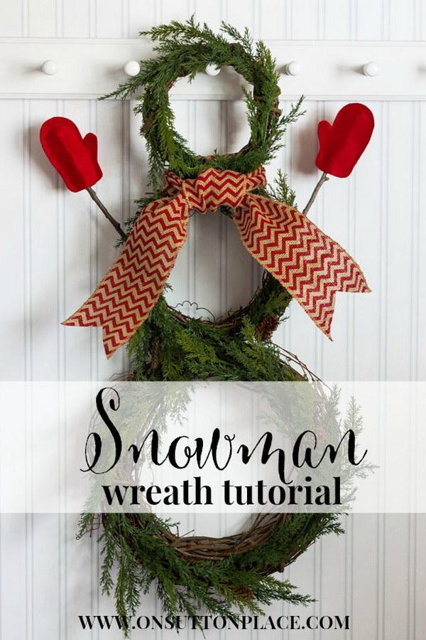 DIY Snowman Wreath Tutorial