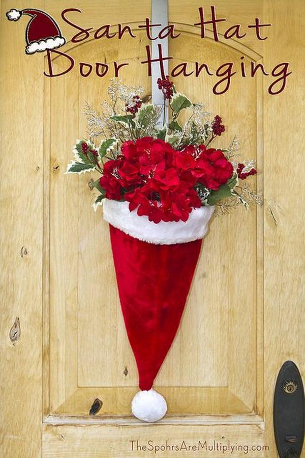DIY Santa Hat Door Hanging