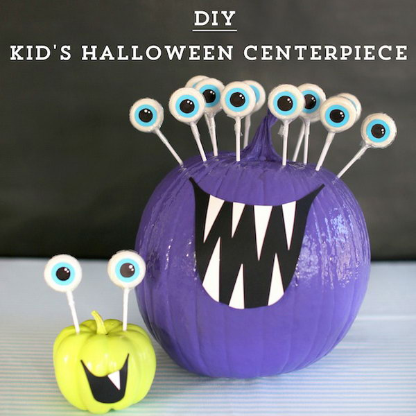 DIY Kids' Halloween Centerpiece.