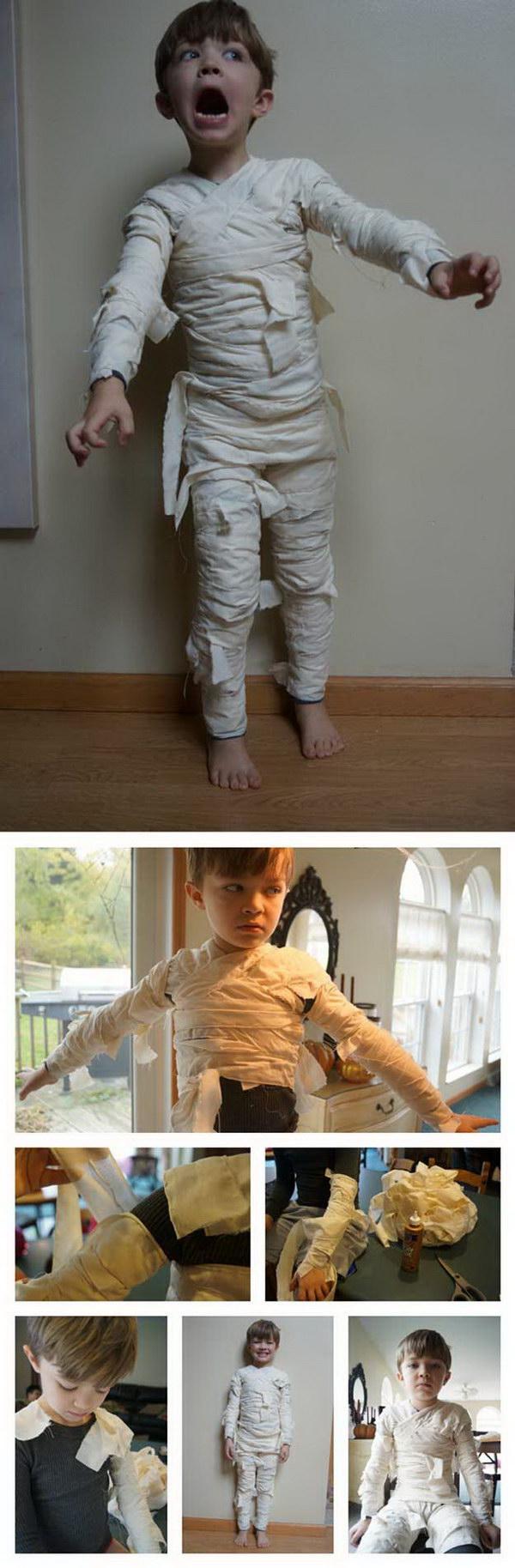Easy Mummy Costume for Boys