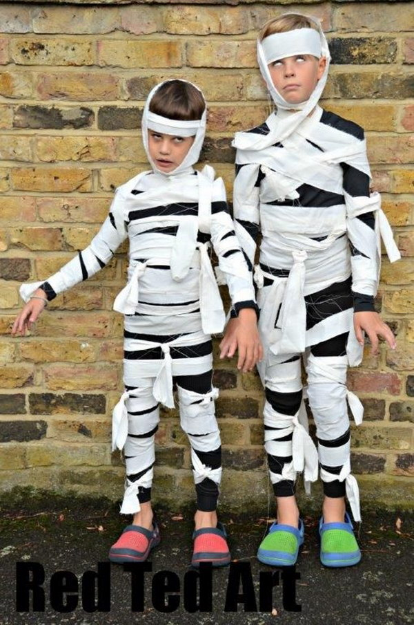 Easy Mummy Costumes Kids Can Make