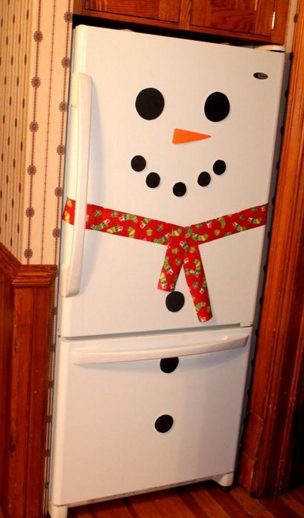 Snowman Fridge Christmas Decoration