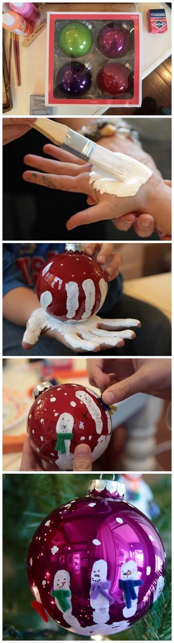 DIY Hand Printed Ornaments