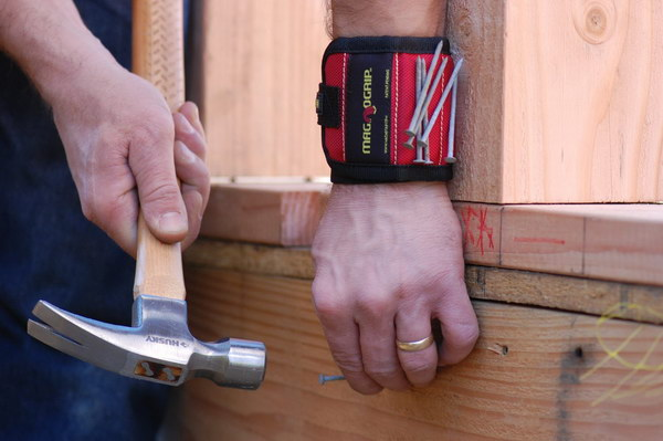 Magnetic Wristband. This is a cool gift for men if they love DIY projects. It makes life easier, a job go faster and makes work more comfortable.