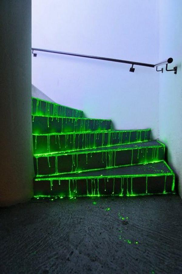 DIY Glowing Stairs