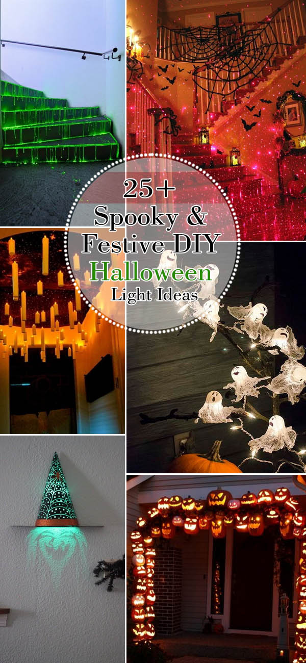 Spooky & Festive DIY Halloween Light Ideas. Great ways to transform your home into a haunted and entertaining house!