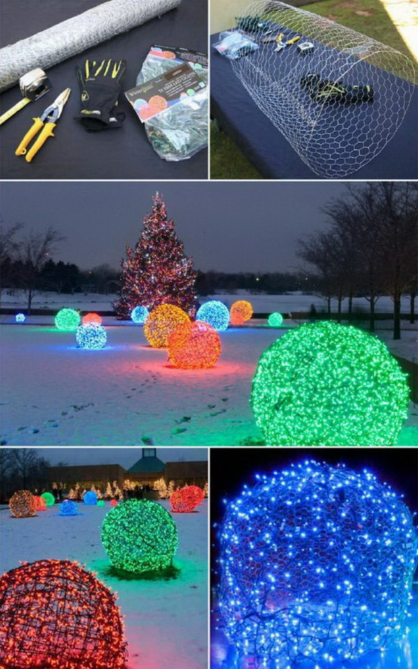 20+ Most Beautiful Outdoor Decoration Ideas for Christmas ... on Patio Lights Decorating Ideas id=24239