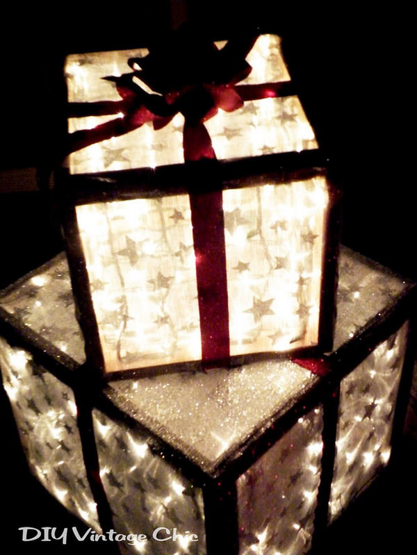 Lighted Christmas Gifts for Outside Decor